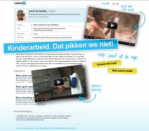microsite  linkedin Unicef actie  tegen kinderarbeid artikel Marianna Bakker