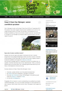 Website Keep I Clean Day Nijmegen door Marianna Bakker