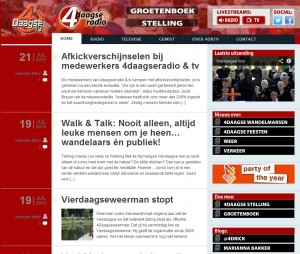 radio interviews en blog Marianna Bakker op 4daagseradio.nl