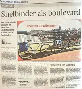 Snelbinderbrug als boulevard- MariannA Bakker- Gelderlander 150513